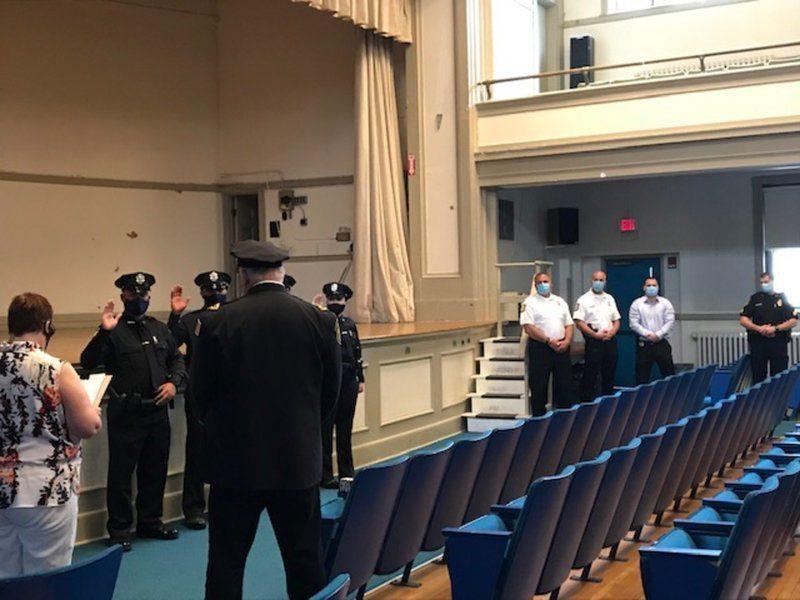 Police force gains racial balance