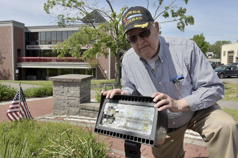 Vandals hit memorial in GAR Park New LED light will cost veterans $500 to replace