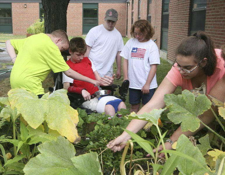 Accessible garden a hit with special needs students