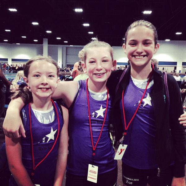 Chloe Simard, 9, Kendal Kelley, 11, and Zoe Voulgaris, 13
