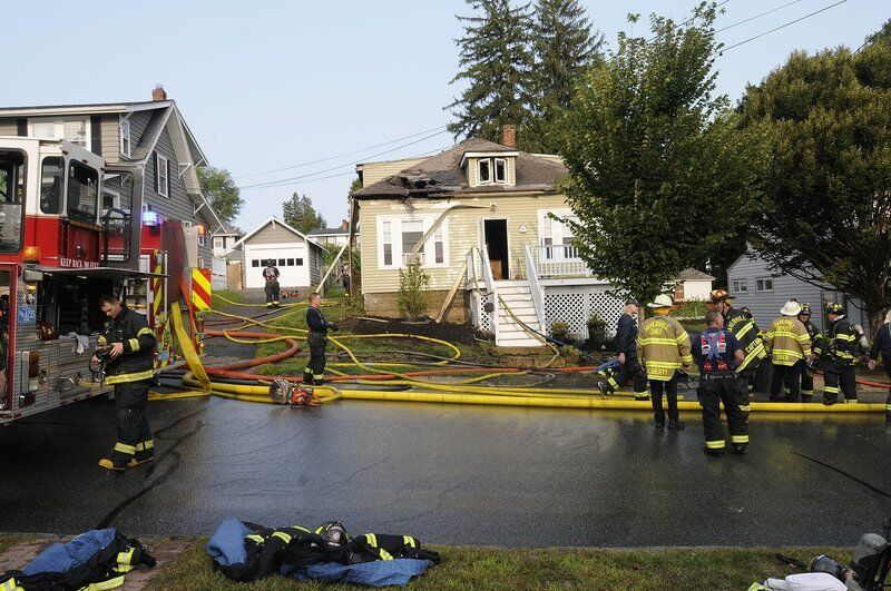 Fire forces familyfrom Bradford home