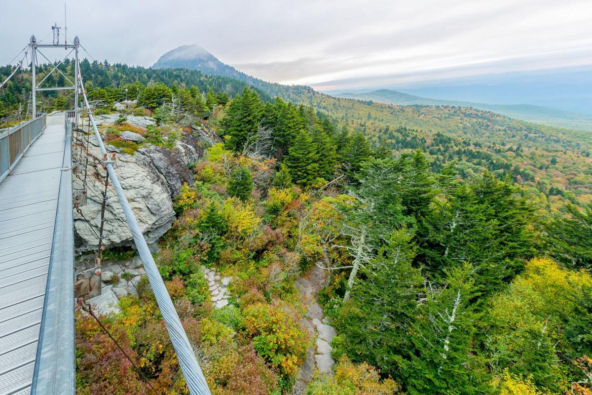 Swinging Bridge at Autumn
