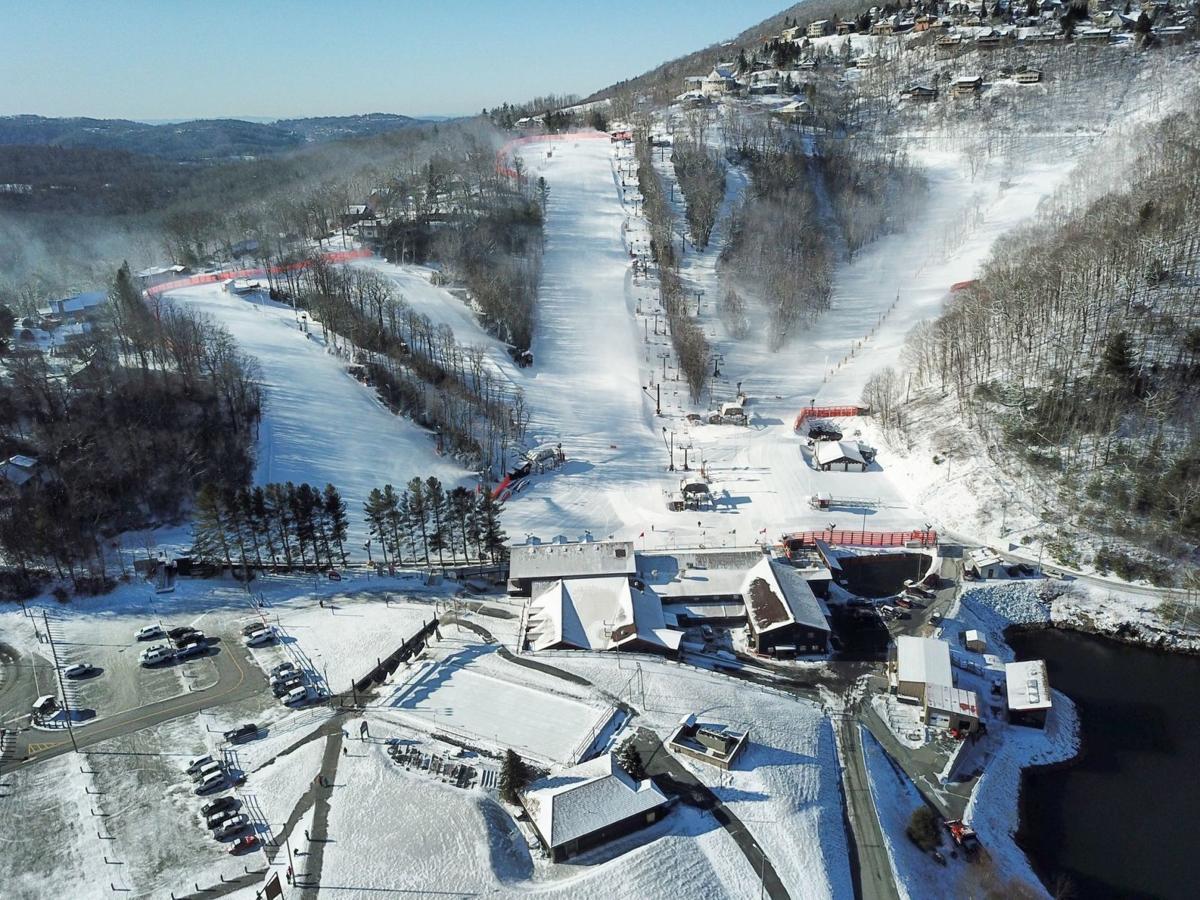Aerial view of App Ski