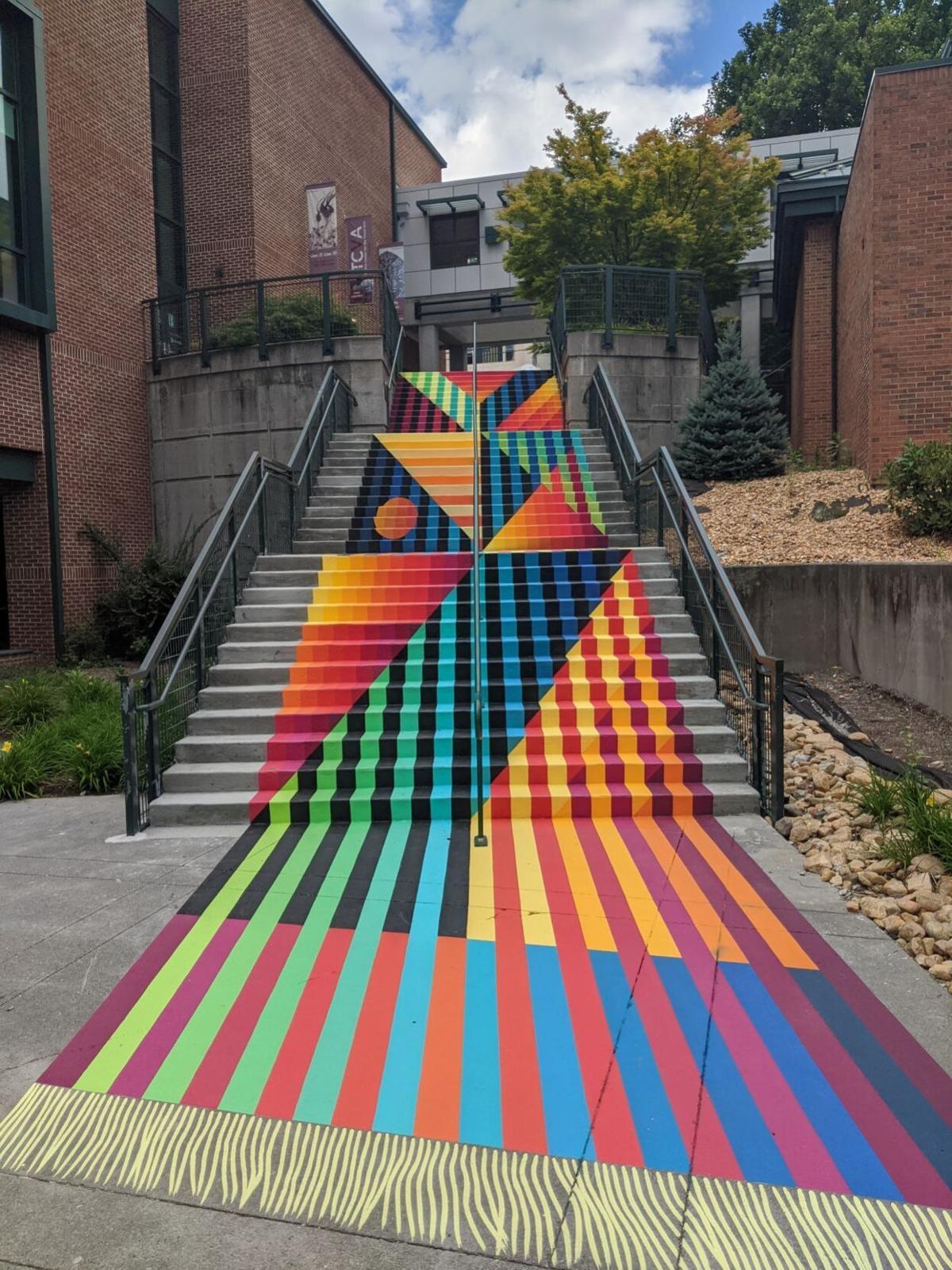Turchin Center stair mural