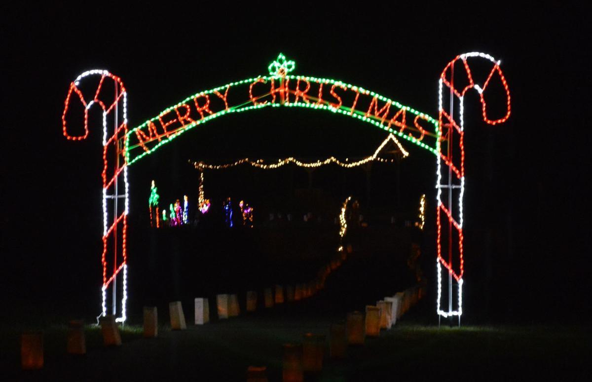 Lit Merry Christmas sign
