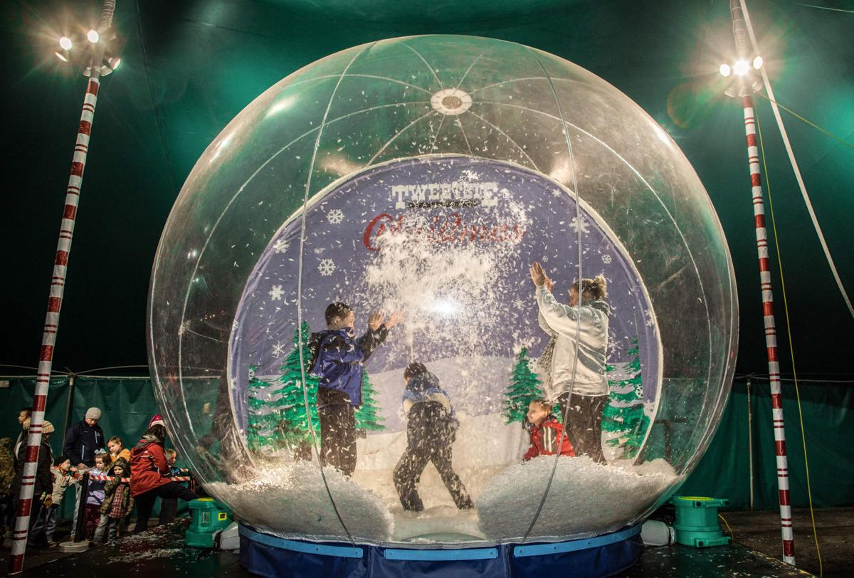 Tweetsie Christmas giant snow globe