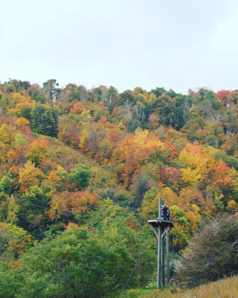 Hawksnest Ziplining offers views of the beautiful changing leaves