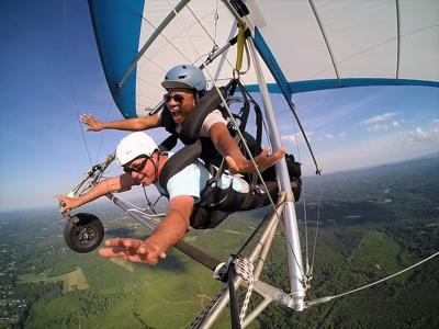 Hang gliding in the High Country