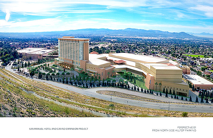 New hotel, parking structure