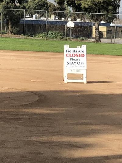 Redlands Community Field shut down due to COVID-19 pandemic