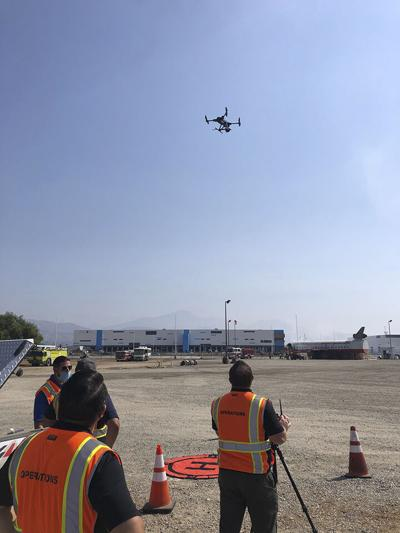 SBD airport operations staff/drone pilots operating