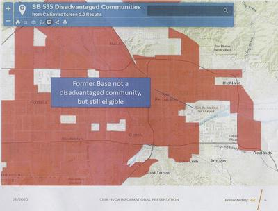 Map of disadvantaged communities