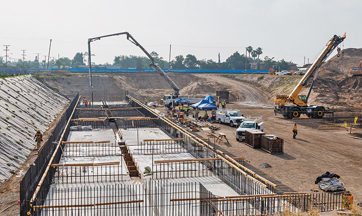 Pouring the foundation