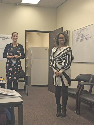 Stephanie Fletcher (left) and Michelle Myers of Positive Youth Development
