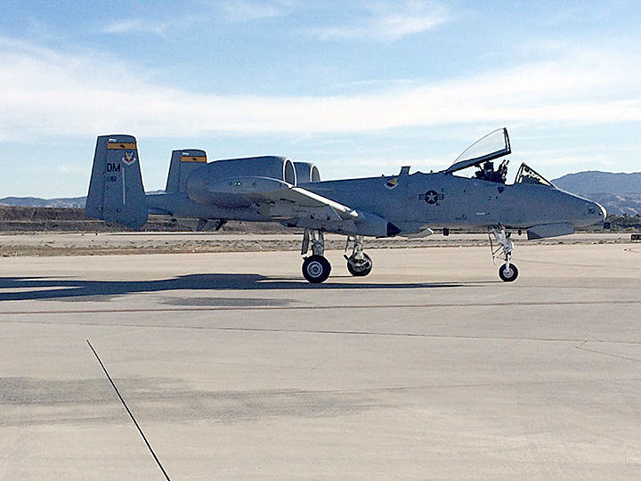 A-10 taxiing