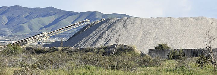 CEMEX mining in the Santa Ana River Wash