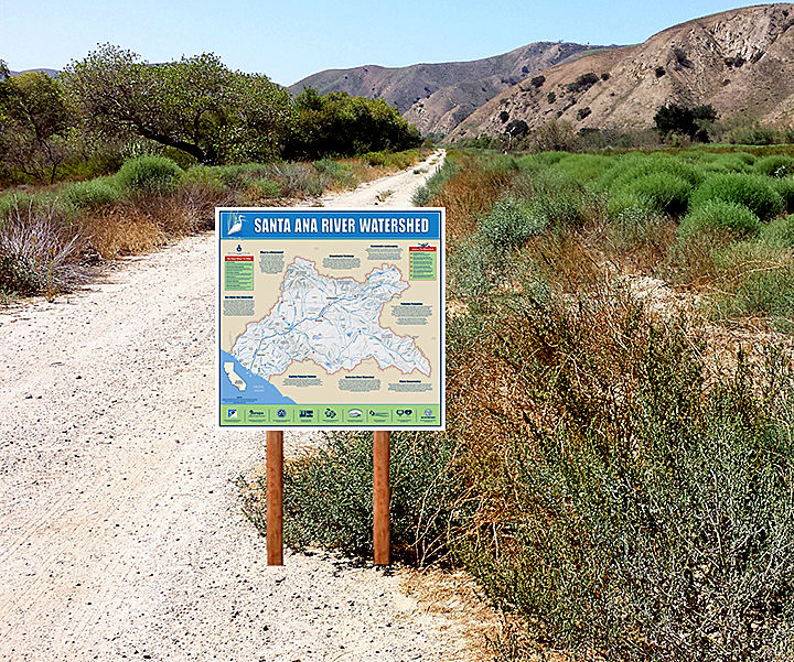 One of 63 signs on the Santa Ana River Trail
