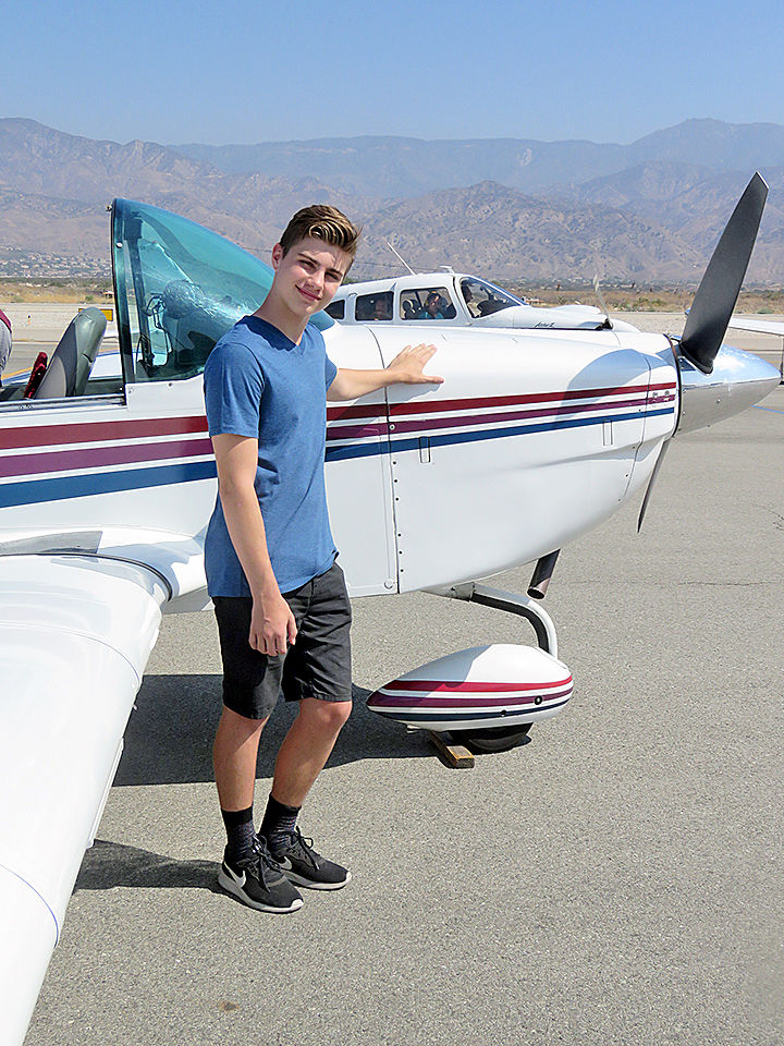Highland teen Robert LaChausse gets to fly