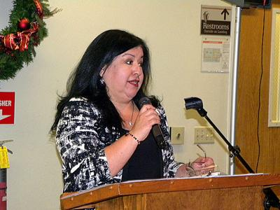 Andrea De Leon addresses Chamber