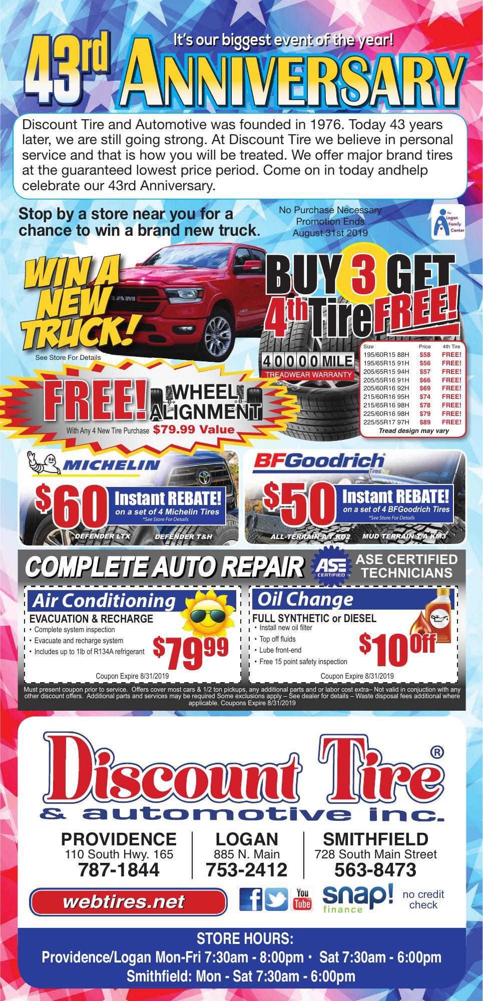 Discount Tire Utah >> 1924729 Discount Tire Promotions Hjnews Com
