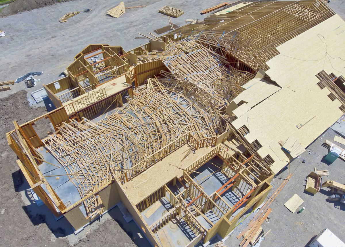 Roof Trusses Collapse At Nibley Church Construction Site None