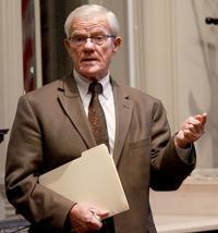 Rep. Johnson presents legislative focuses, including distracted driving, education