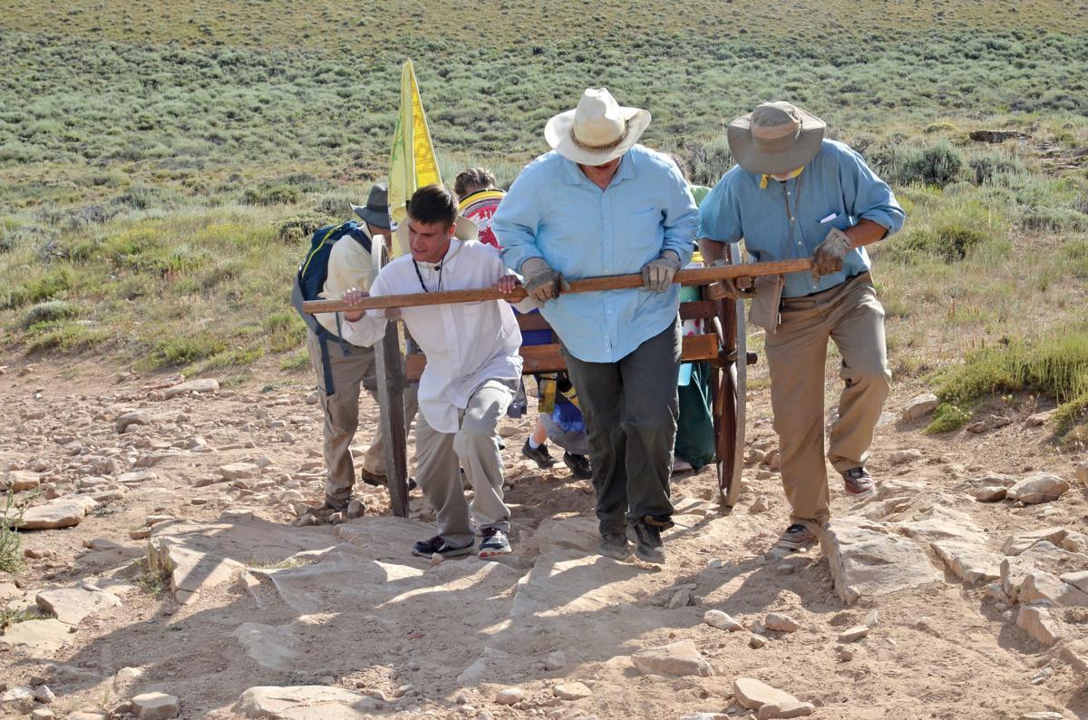 Over 300 try walking in ancestor's footsteps