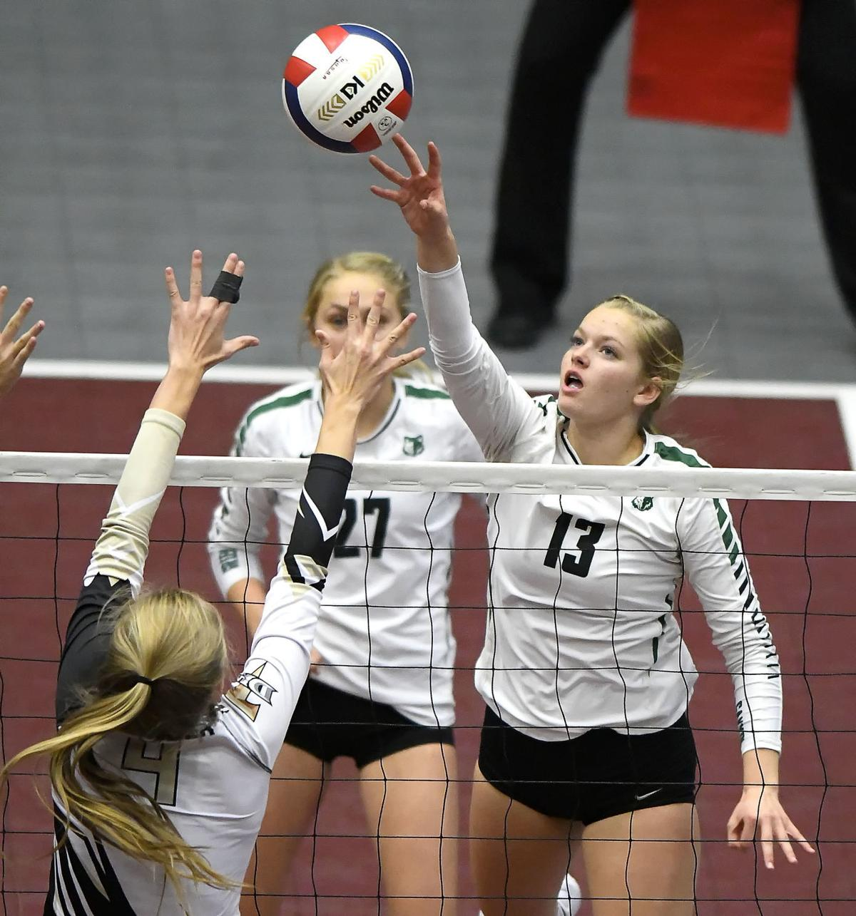 state volleyball GREEN CANYON action