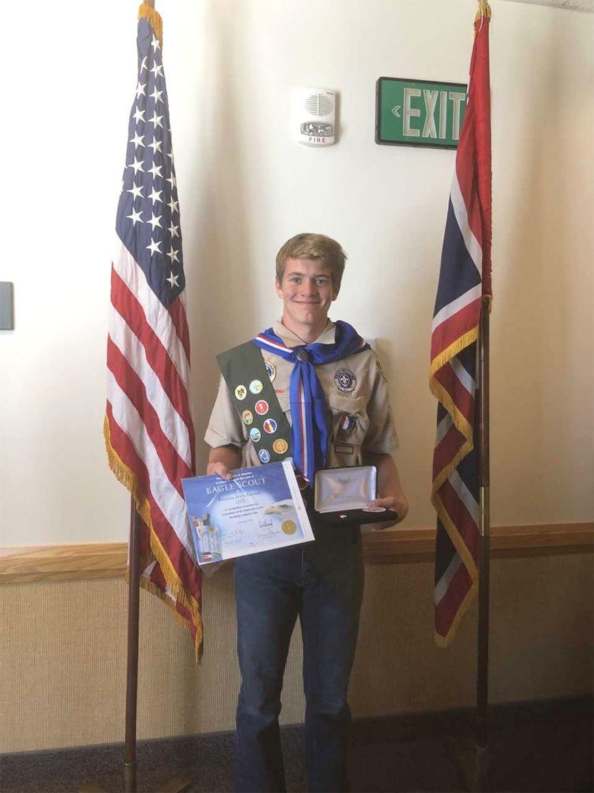 Treyson Dayton Receives Eagle Scout Award