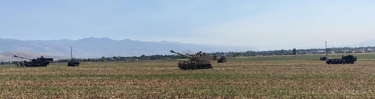 Armory conducts maneuver in Swainston's field