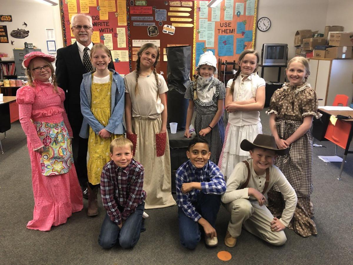 Mr. Warner and his 4th Grade Class participated in Pioneer Day