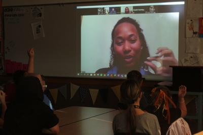 PJH students visit with NASA engineers