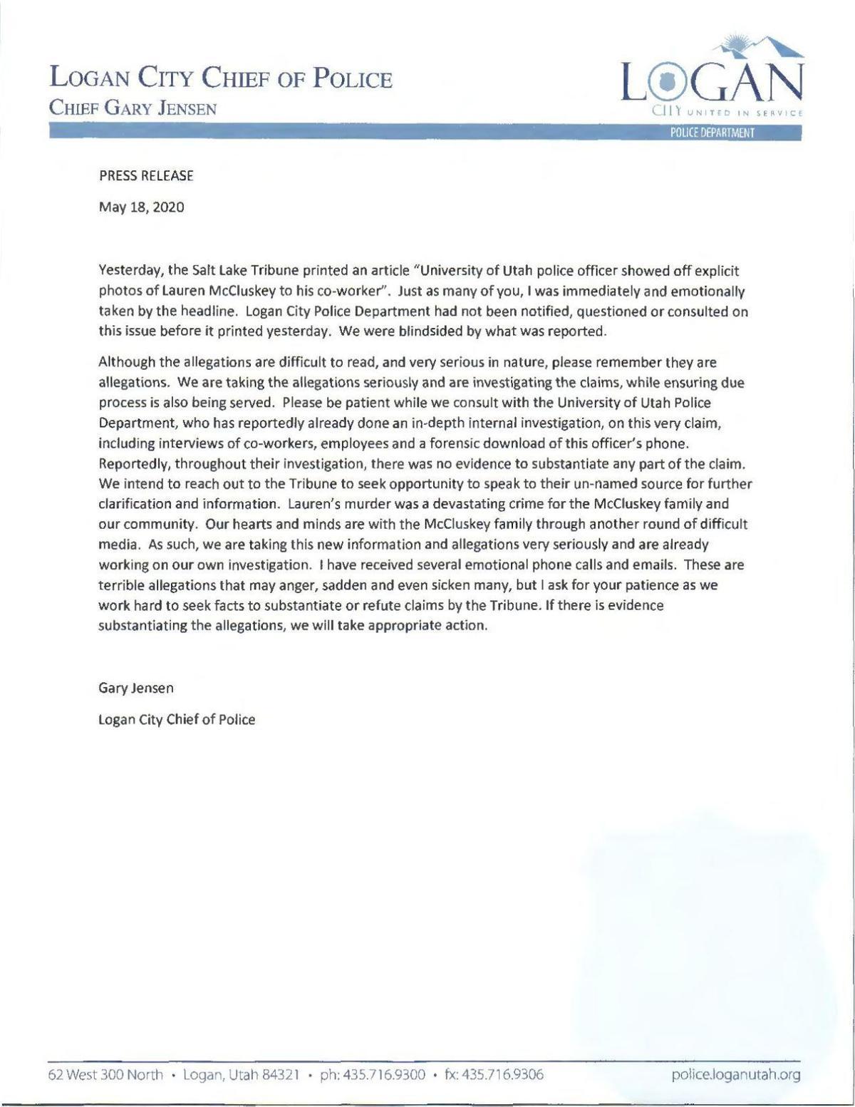 Jensen statement