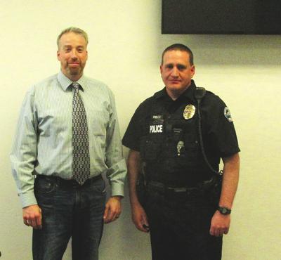 Chief Wells and Mayor Jared Sharp