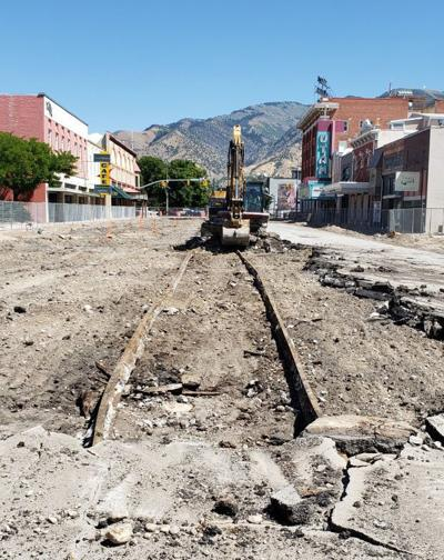 Center Street tolley tracks