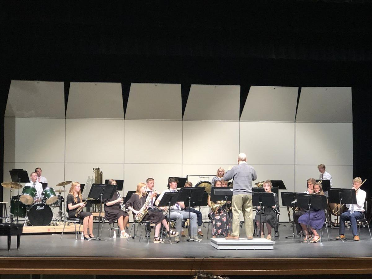 Concert Band receives instruction from