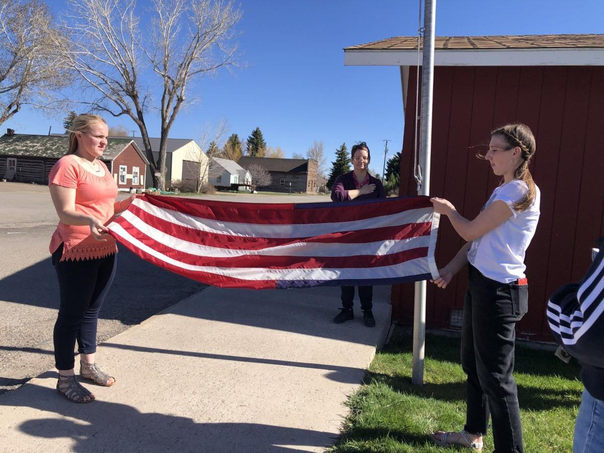 Cokeville Girls practice for Wyoming Girls State