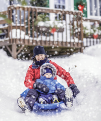 Ideas keep a family active in winter