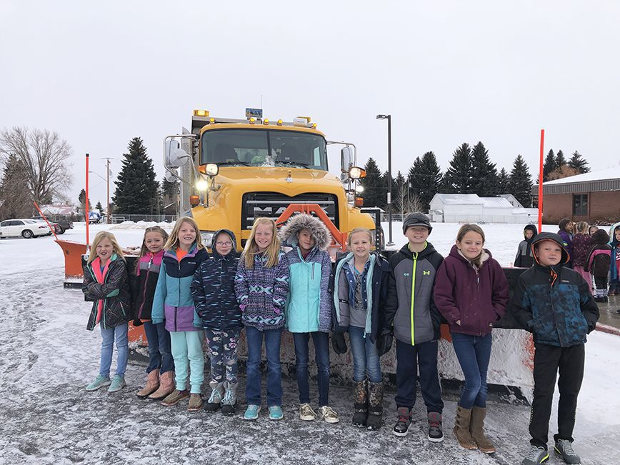 Cokeville Elementary learns about Snowplow Safety