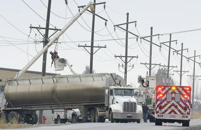 truck power lines