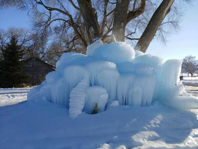 Portage ice castle