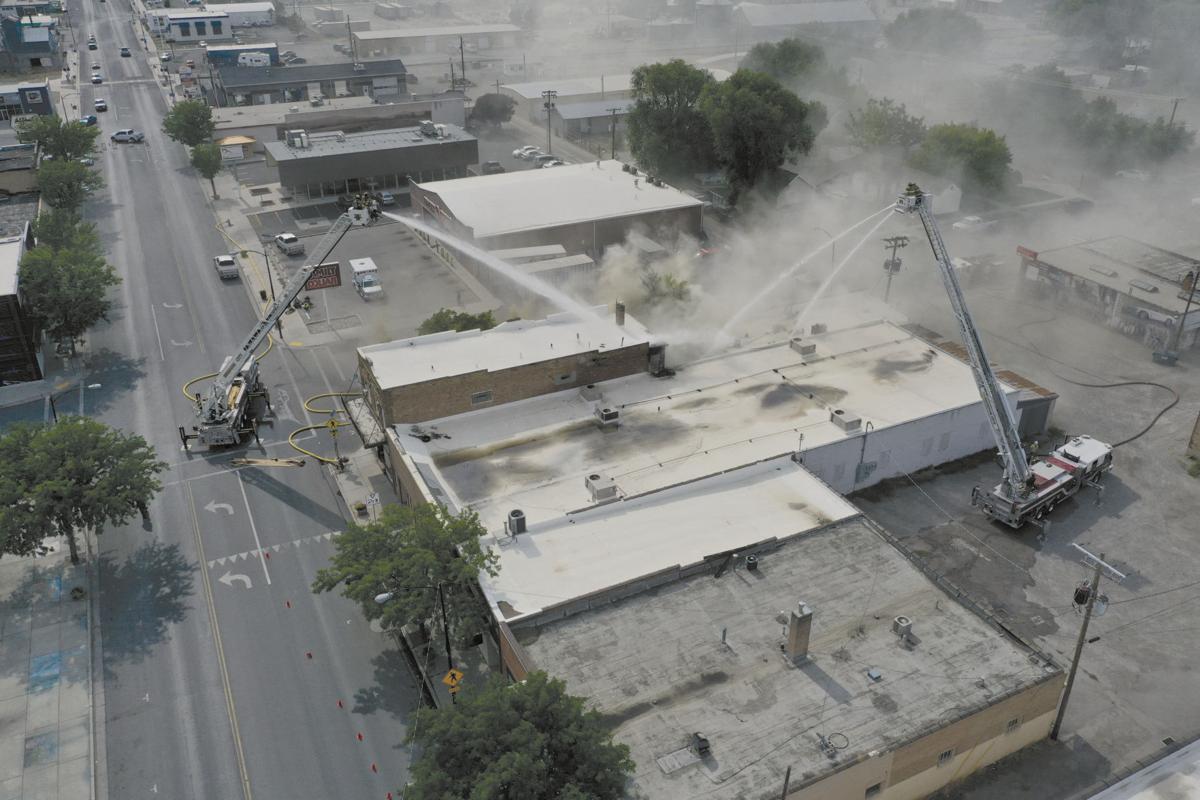 Tremonton fire aerial