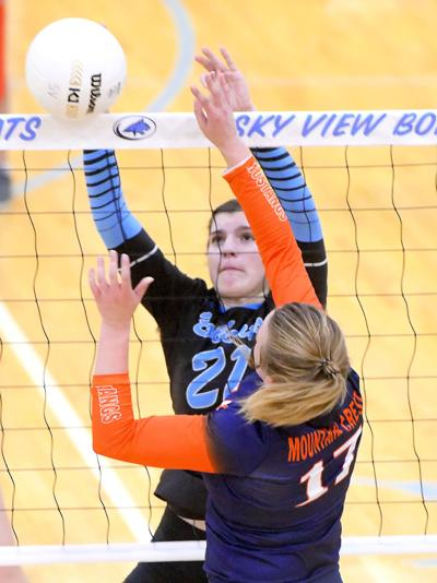 sky view mountain crest volleyball