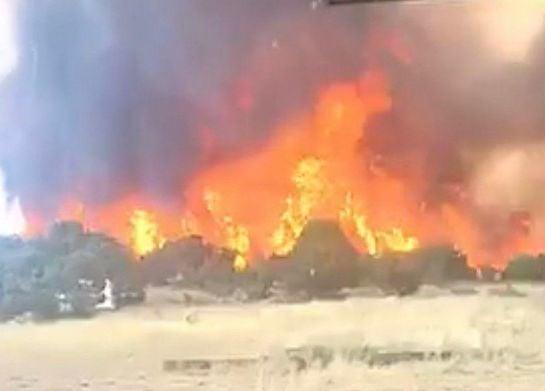 Malad Downey wildfire