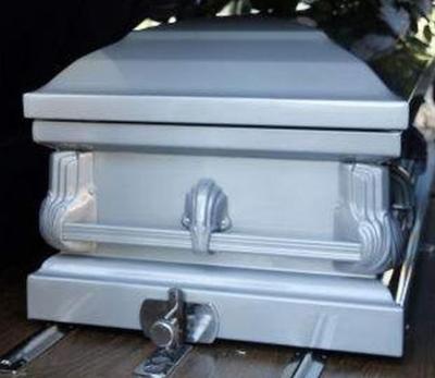 Coffin file photo stock image