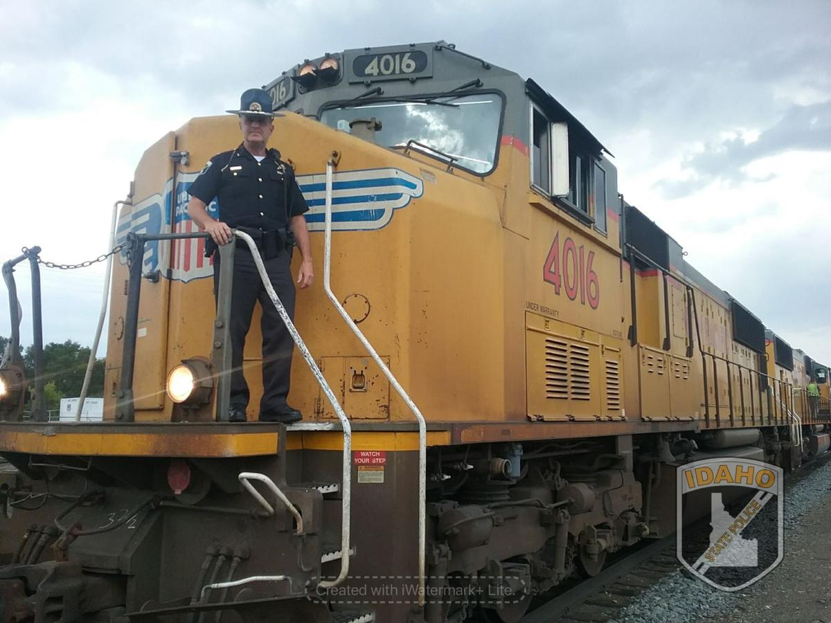 Officer on a Train