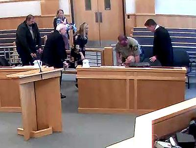 Courtroom emergency