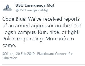 Code Blue false alarm