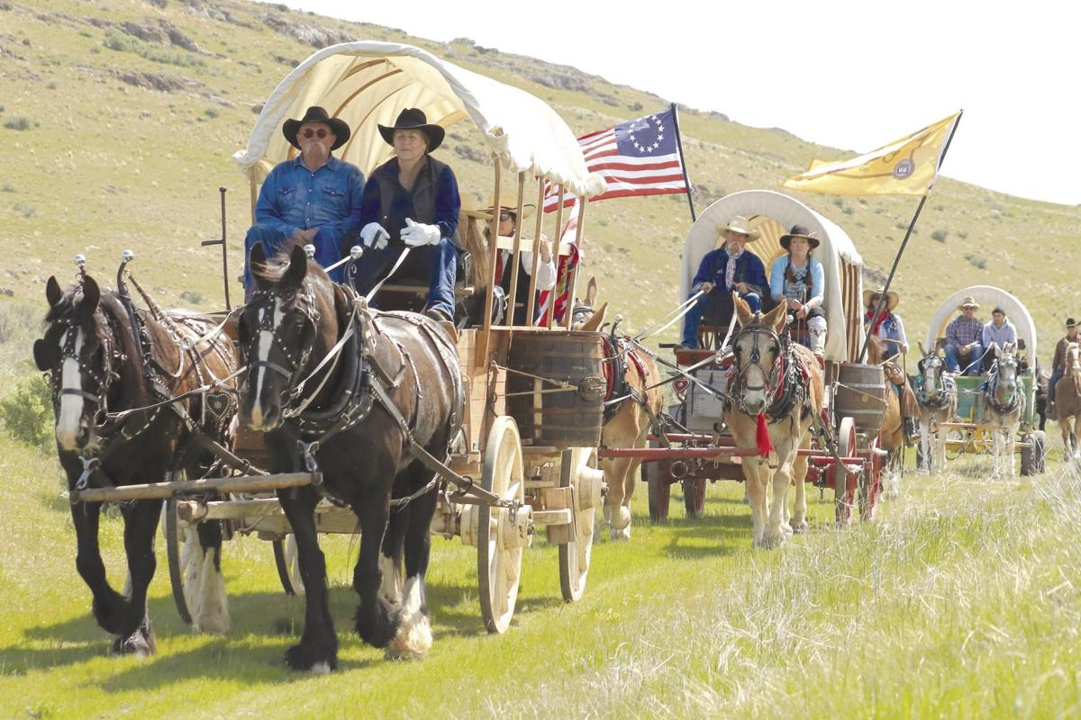 Wagons, Ho!' Wagon train retraces old railroad route to celebrate Golden  Spike 150 | Tremonton Leader | hjnews.com