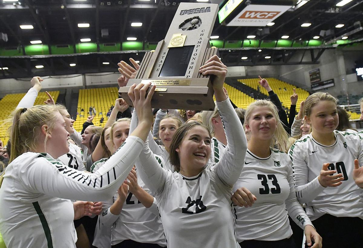 state volleyball trophy